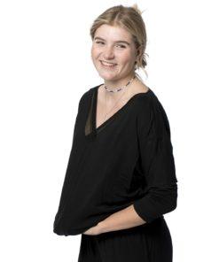 Calvin Klein trekvart ærmet sort bluse 000QS5780E, BlondeHuset