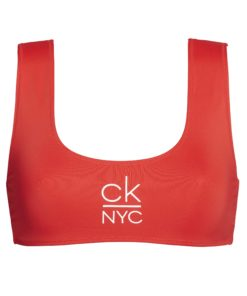 Calvin Klein bikini top rød KW0KW00923XBG, BlondeHuset