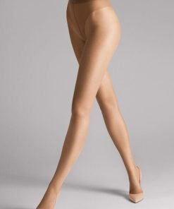 Wolford Luxe 9 Tights caramel 17028, BlondeHuset