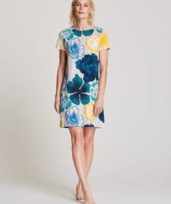 Nanso natkjole med kort ærme NA-01-25859, BlondeHuset