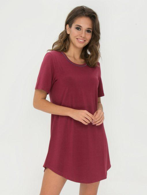 Lady Avenue natkjole med korte ærmer 75-1050 BlondeHuset