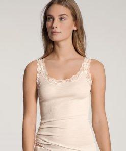Calida top uld silke med blonder 12990 BlondeHuset
