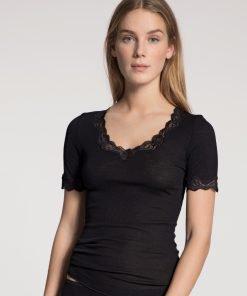 Calida t-shirt uld silke med blonder 145990 BlondeHuset