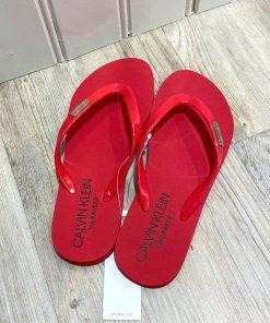 Calvin Klein røde sandaler klipklappere KW0KW01585XMK BlondeHuset