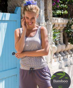 Lady Avenue Trouville pyjamas sæt med top og short 67-400 BlondeHuset