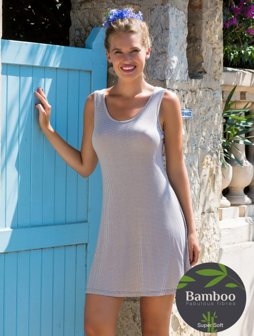 Lady Avenue Trouville natkjole med brede stropper 67-404 BlondeHuset