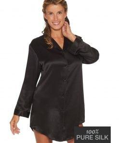 Lady Avenue silkenatskjorte 25-80221 BlondeHuset