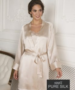 Lady Avenue silkekimono kort 25-80668 BlondeHuset