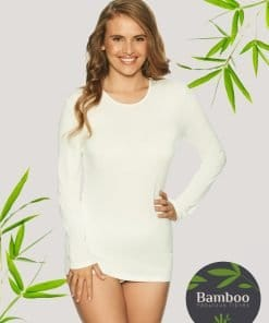Lady Avenue t-shirt med lang ærme bamboo bambus 50-50509 BlondeHuset